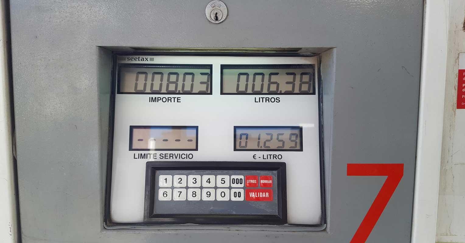 Contador de gasolina