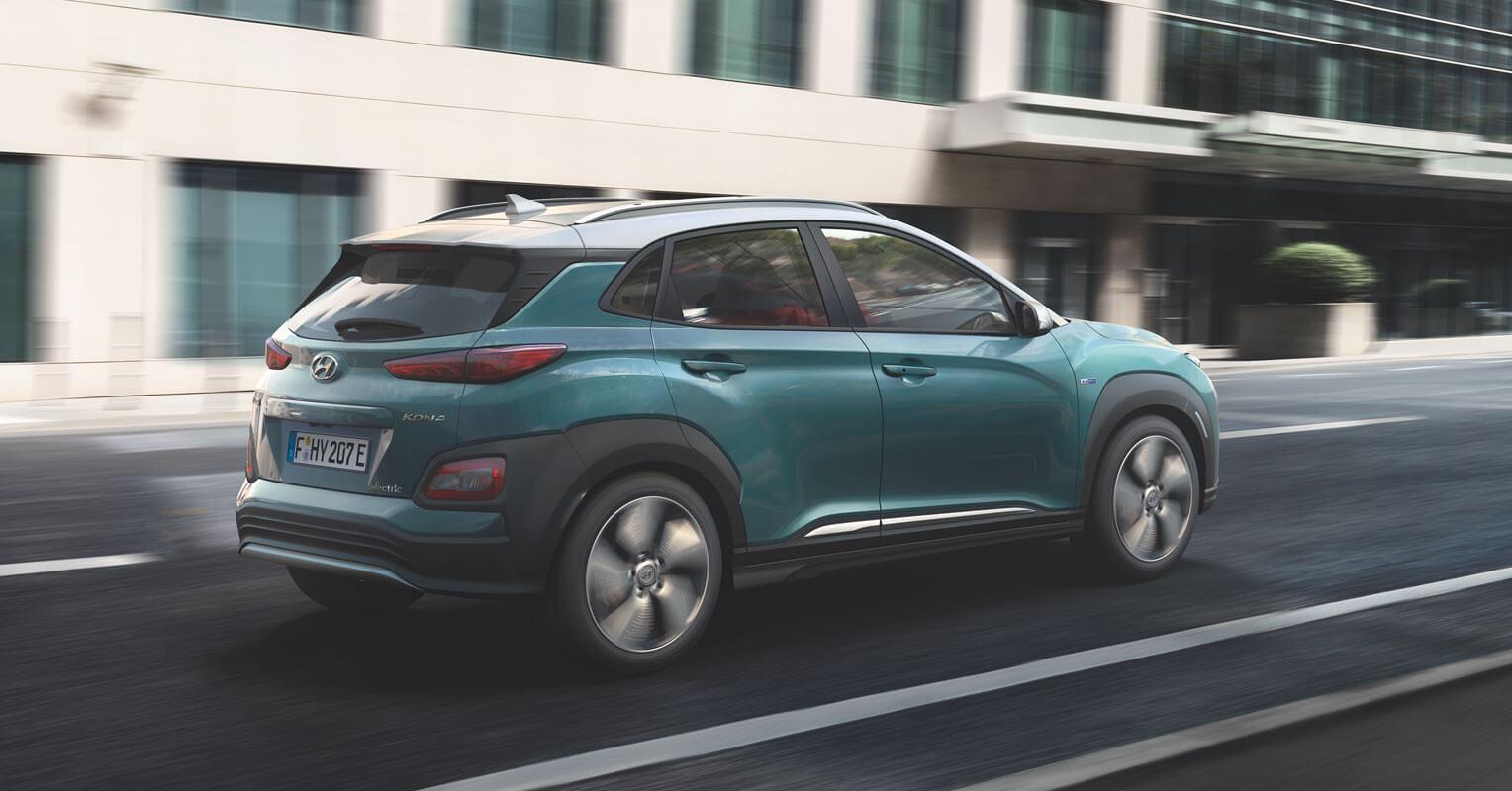Hyundai Kona eléctrico trasera