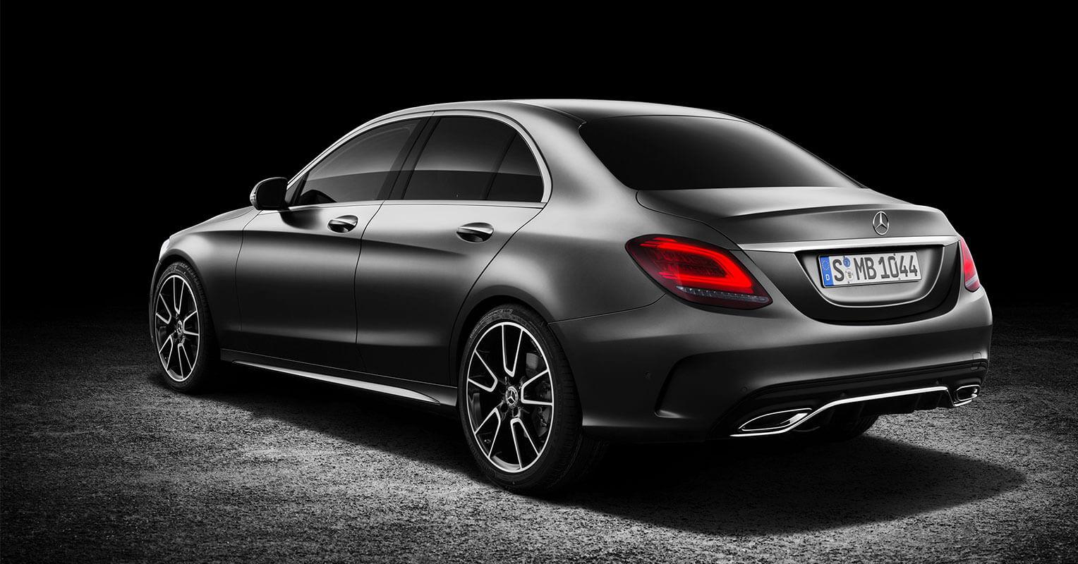Trasera del Mercedes-Benz Clase C 2018