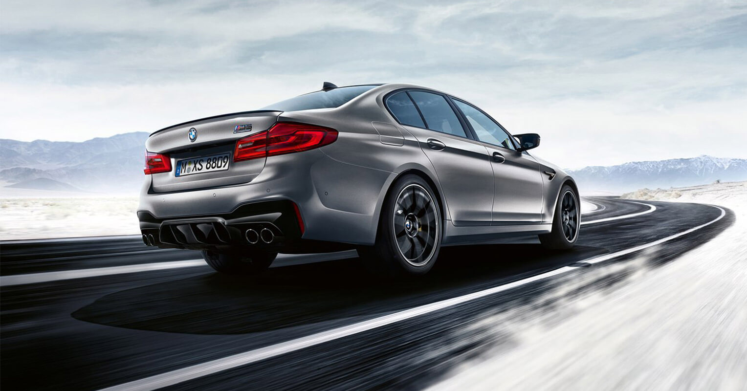 Trasera del BMW M5 Competition 2018