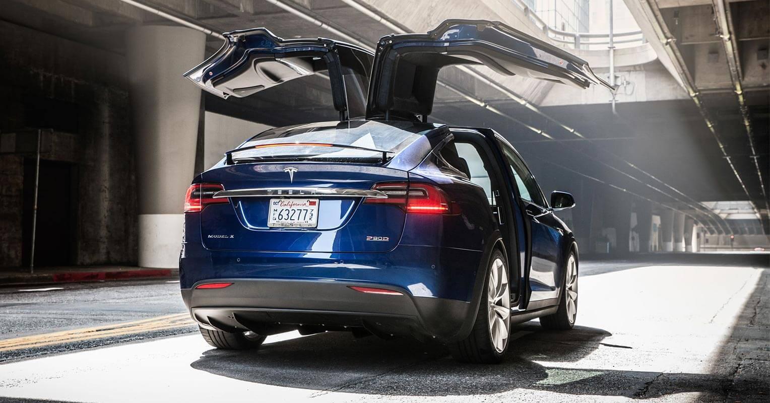 Trasera del Tesla Model X