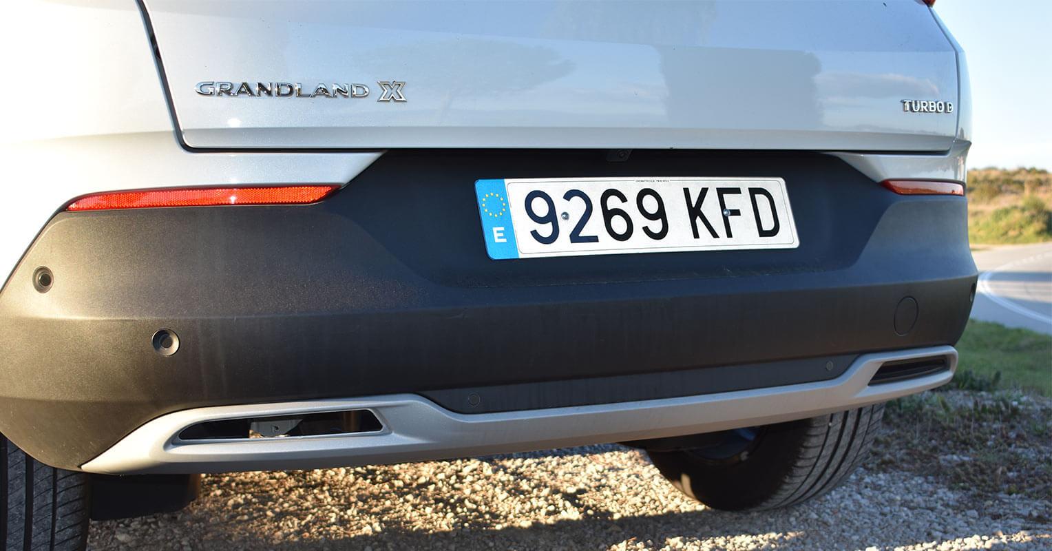 Difusor trasero del Opel Grandland X