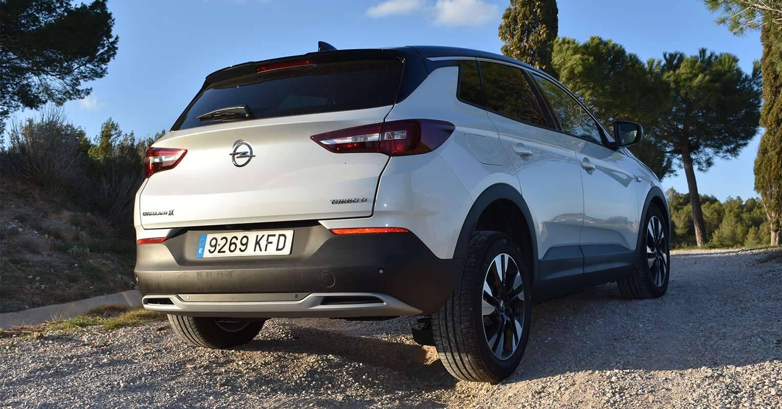 Trasera del Opel Grandland X