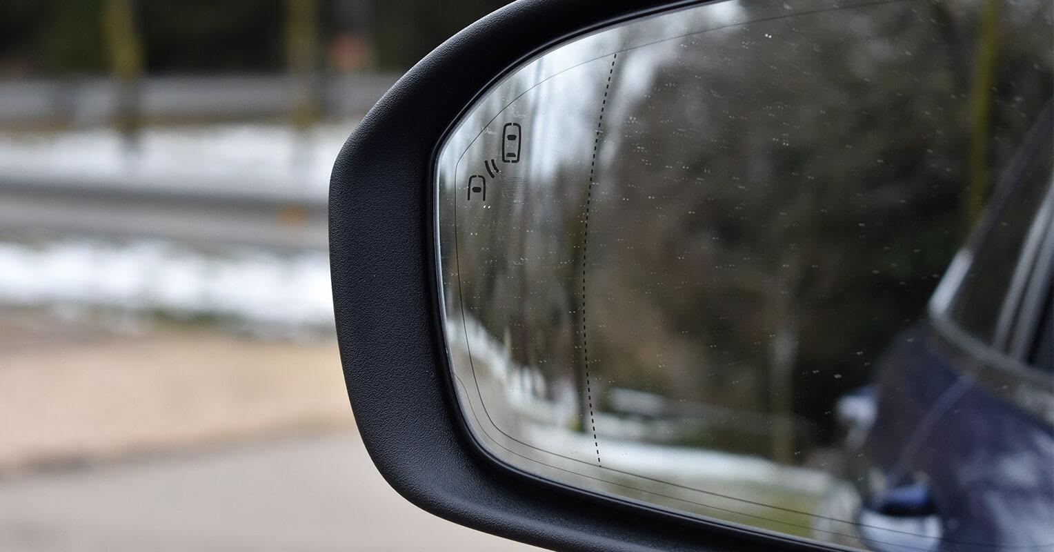 Espejo retrovisor del Ford Mondeo híbrido