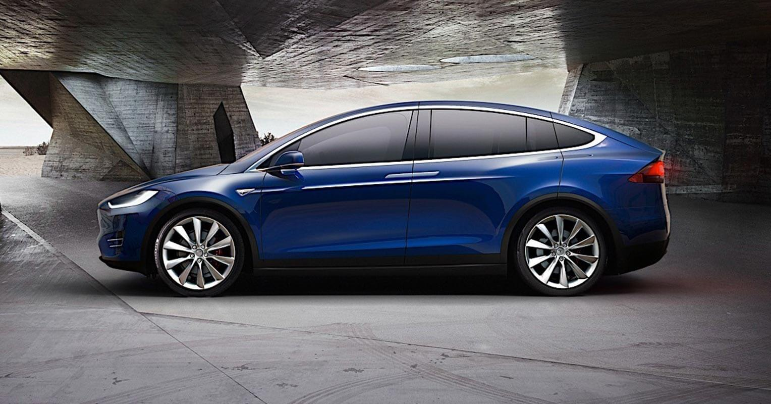 Lateral del Tesla Model X 2018