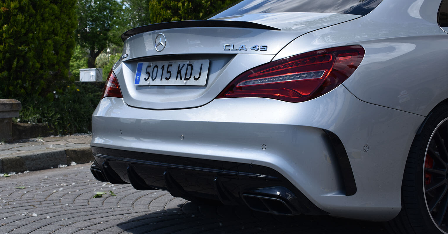 Trasera del Mercedes-AMG CLA 45