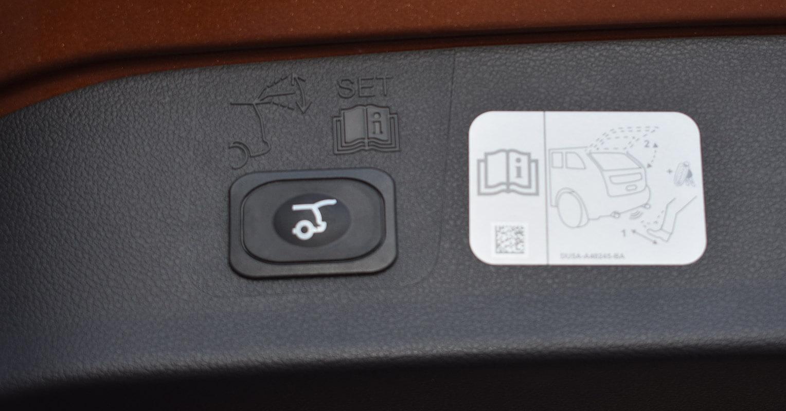 Botón del maletero del Ford Kuga 2018