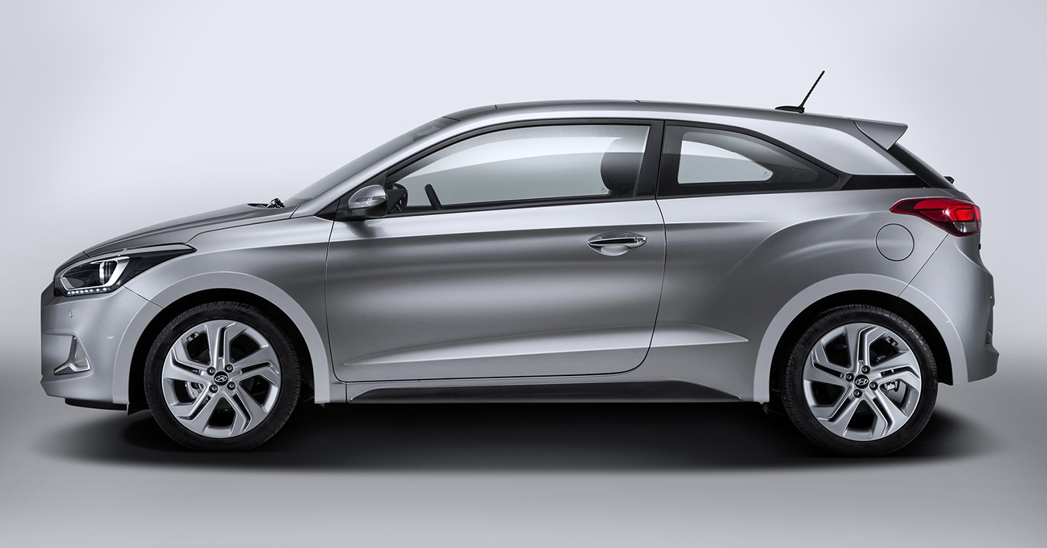 Lateral del Hyundai i20 Coupé