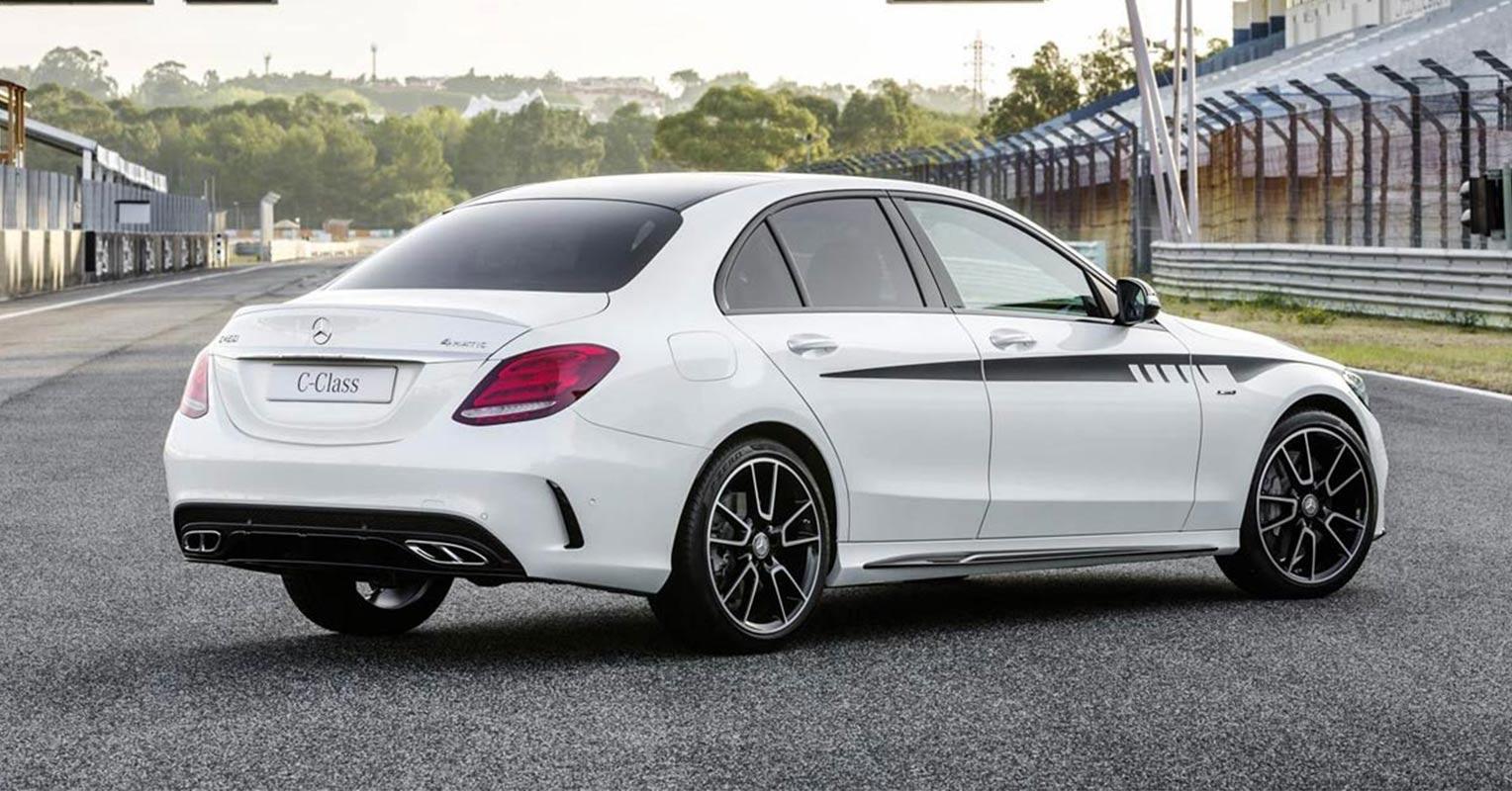 Trasera del Mercedes AMG Clase C