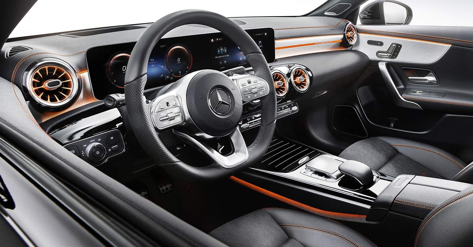 Interior del Mercedes CLA 2019